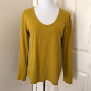 Ann Taylor Mustard Yellow long sleeve T-shirt